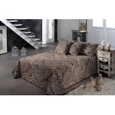 Thais 873 King 270x270cm Marron Brown Paisley