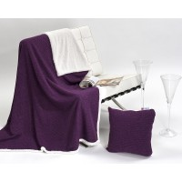 Anthea 821 Throw + Bonus Cushion Set Lavanda