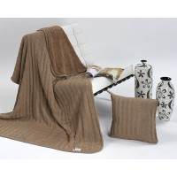 Halia 820 Throw + Bonus Cushion Set Vision Brown