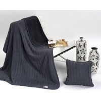 Halia 820 Throw + Bonus Cushion Set Gris Grey